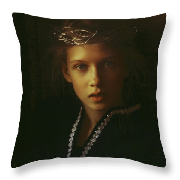 Ambers Embers Throw Pillow by Alexander Kuzmin