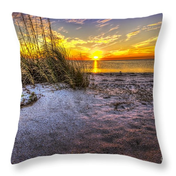 Ambience Of The Gulf Throw Pillow by Marvin Spates