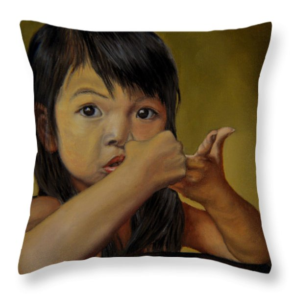 Amelie-an 9 Throw Pillow by Thu Nguyen