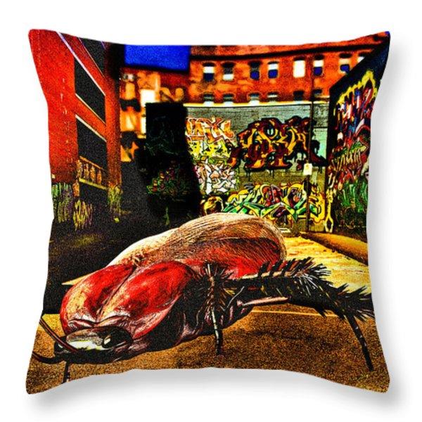 American Cockroach Throw Pillow by Bob Orsillo