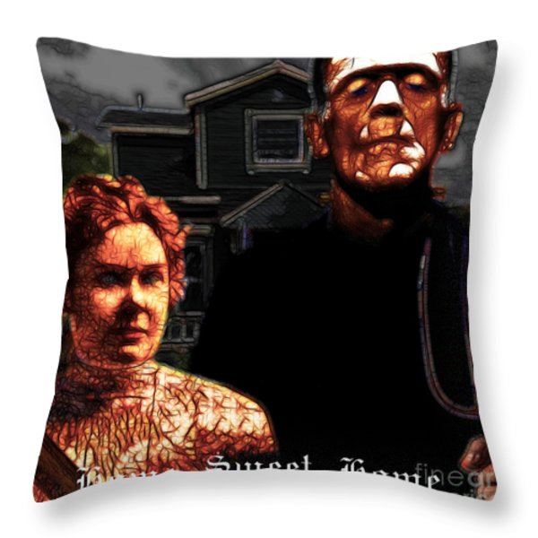 American Gothic Resurrection Home Sweet Home 20130715 Square Throw Pillow by Wingsdomain Art and Photography