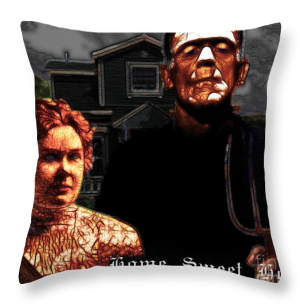 American Gothic Resurrection Home Sweet Home 20130715 Throw Pillow by Wingsdomain Art and Photography
