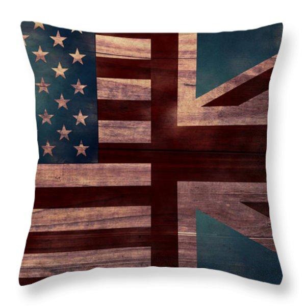 American Jack II Throw Pillow by April Moen