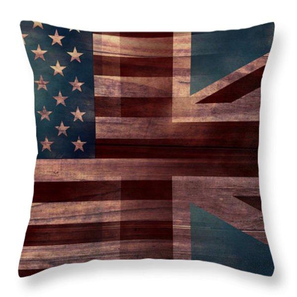 American Jack III Throw Pillow by April Moen