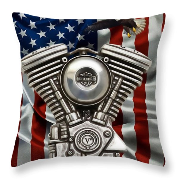 American Made 2 Throw Pillow by Todd and candice Dailey