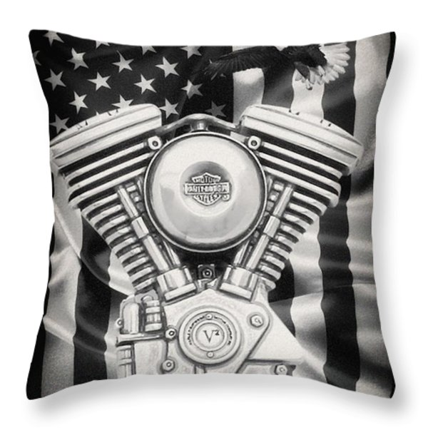 American Made Throw Pillow by Todd and candice Dailey