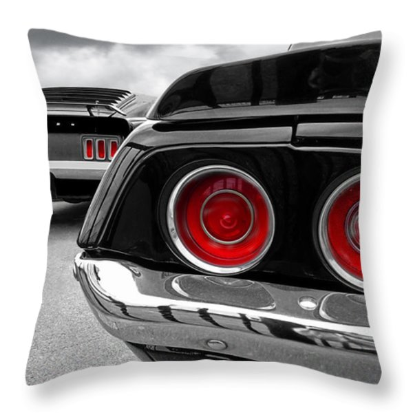 American Muscle Throw Pillow by Gill Billington