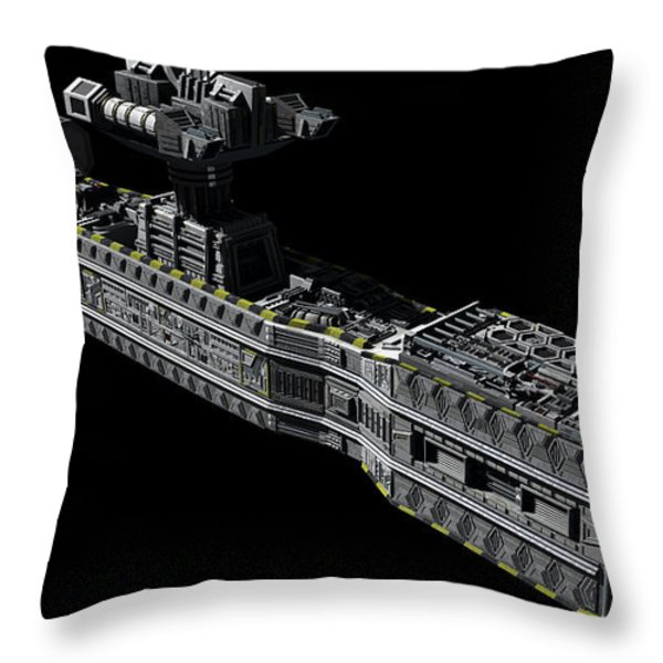 American Orbital Weapons Platform Throw Pillow by Rhys Taylor