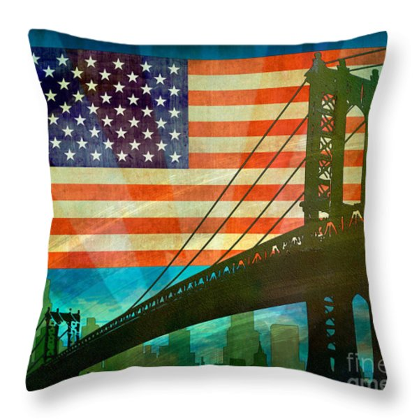American Pride Throw Pillow by Bedros Awak