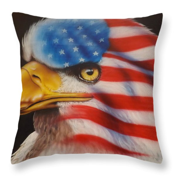 American Pride Throw Pillow by Darren Robinson