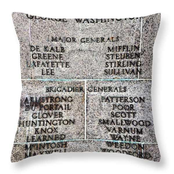 American Revolutionary War Generals Throw Pillow by Olivier Le Queinec