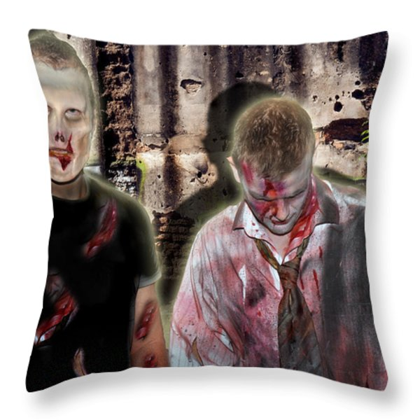 American Zombies Throw Pillow by Gary Keesler