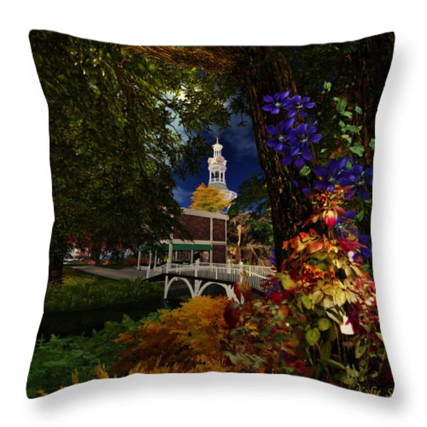 Americana Throw Pillow by Kylie Sabra