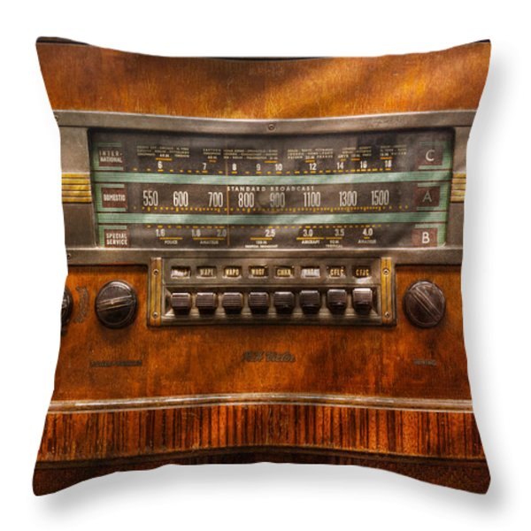 Americana - Radio - Remember What Radio Was Like Throw Pillow by Mike Savad