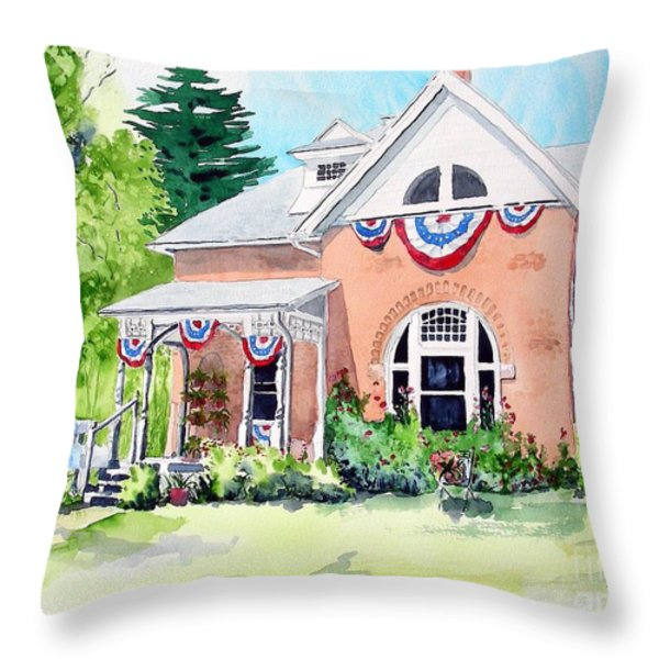 Americana Throw Pillow by Tom Riggs