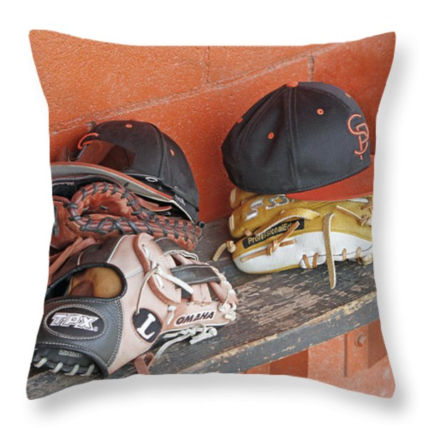America's Pastime  Throw Pillow by Shoal Hollingsworth