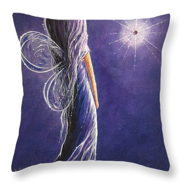 Amethyst Fairy by Shawna Erback Throw Pillow by Shawna Erback