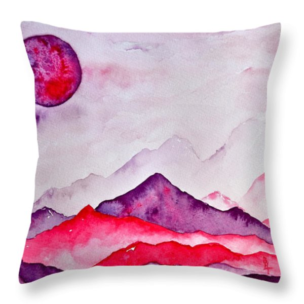 Amethyst Range Throw Pillow by Beverley Harper Tinsley