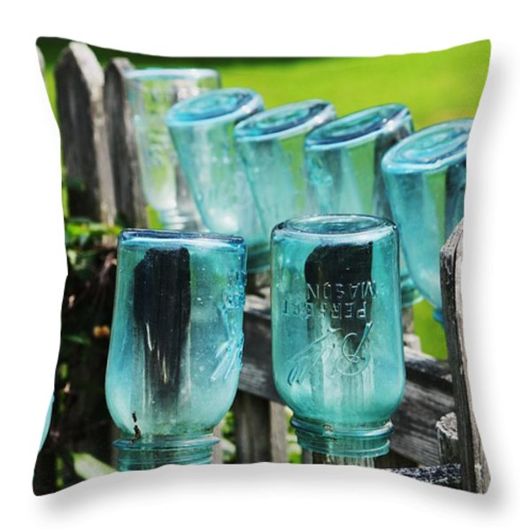 Amish Fence Throw Pillow by William Rockwell