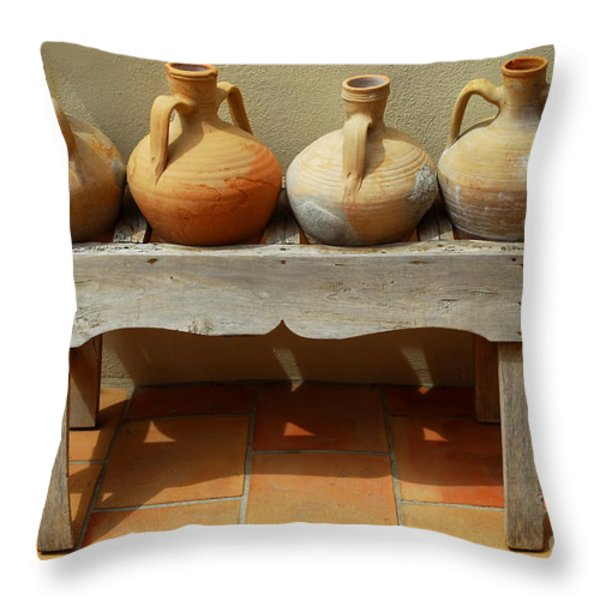 Amphoras  Throw Pillow by Elena Elisseeva