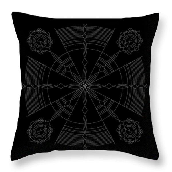 Amplitude Inverse Throw Pillow by DB Artist