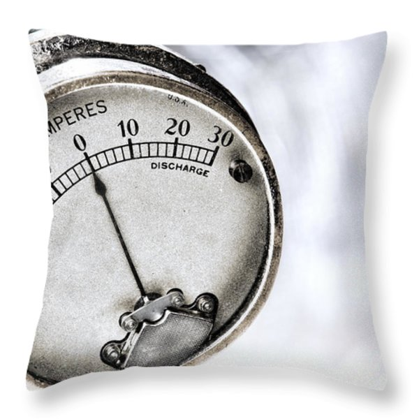 Amps Throw Pillow by Olivier Le Queinec