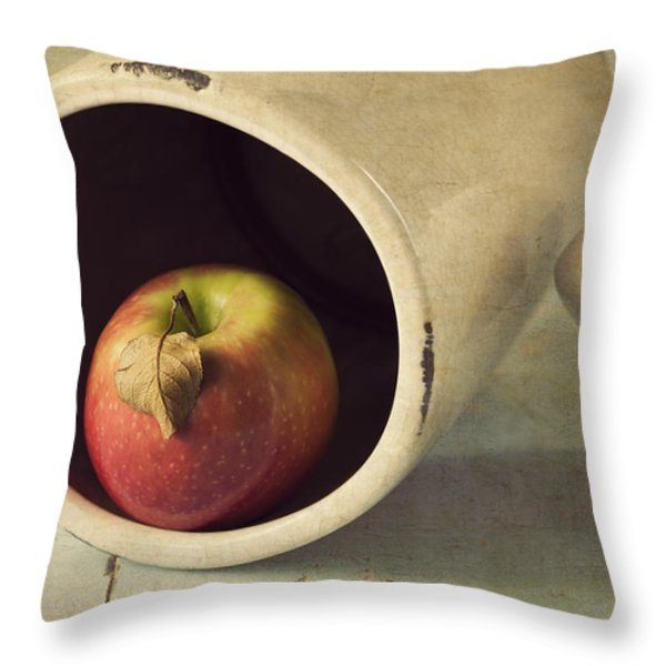 An Apple a Day... Throw Pillow by Amy Weiss