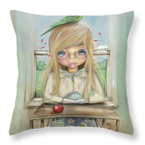 An Apple A Day Throw Pillow by Karin Taylor