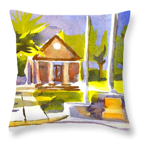 An Early Summers Morning Throw Pillow by Kip DeVore