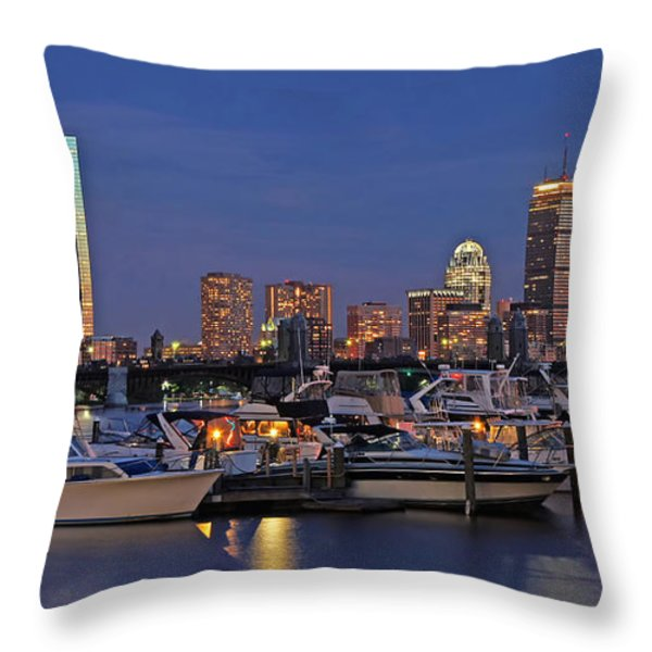 An Evening On The Charles Throw Pillow by Joann Vitali