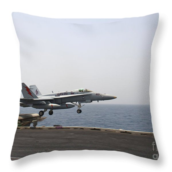An Fa-18c Hornet Takes Throw Pillow by Stocktrek Images