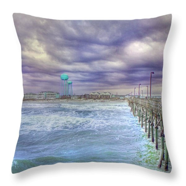 An Ocean of Clouds Throw Pillow by Betsy A  Cutler