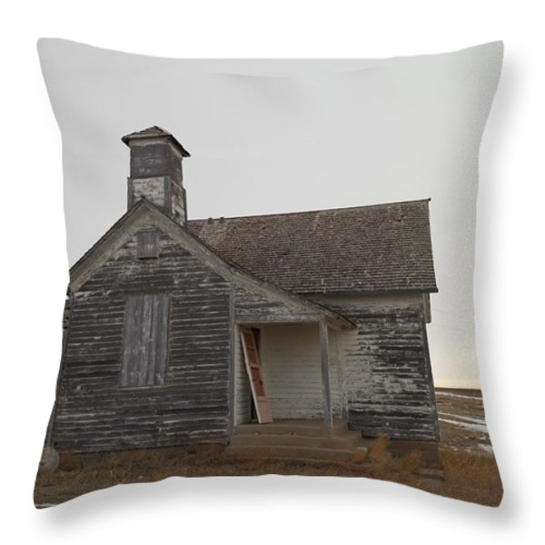 An Old Church On The Prairie  Throw Pillow by Jeff Swan
