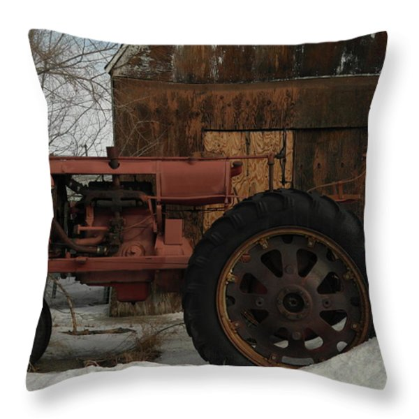 AN OLD JOHN DEER Throw Pillow by Jeff  Swan