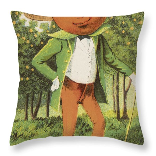 An Orange Man Throw Pillow by Aged Pixel