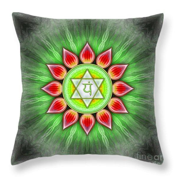 Anahata Chakra Series Iv Throw Pillow by Dirk Czarnota