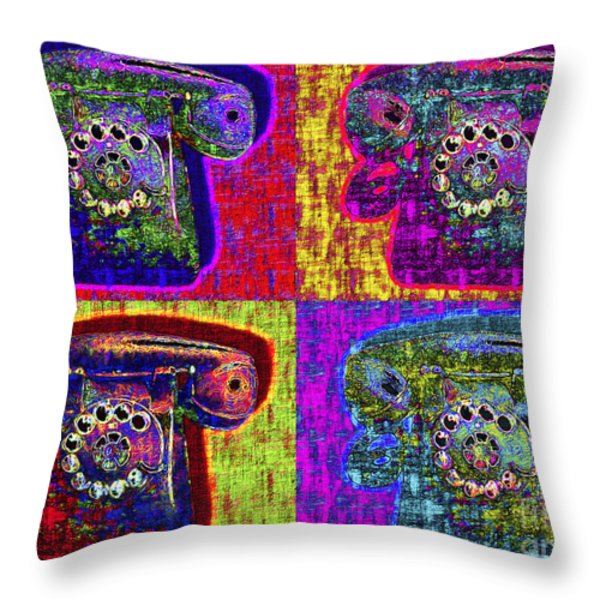 Analog A-phone Four - 2013-0121 Throw Pillow by Wingsdomain Art and Photography