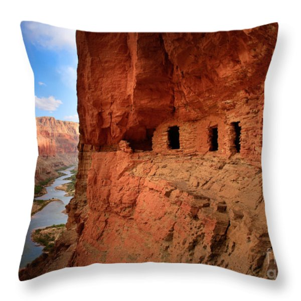Anasazi Granaries Throw Pillow by Inge Johnsson