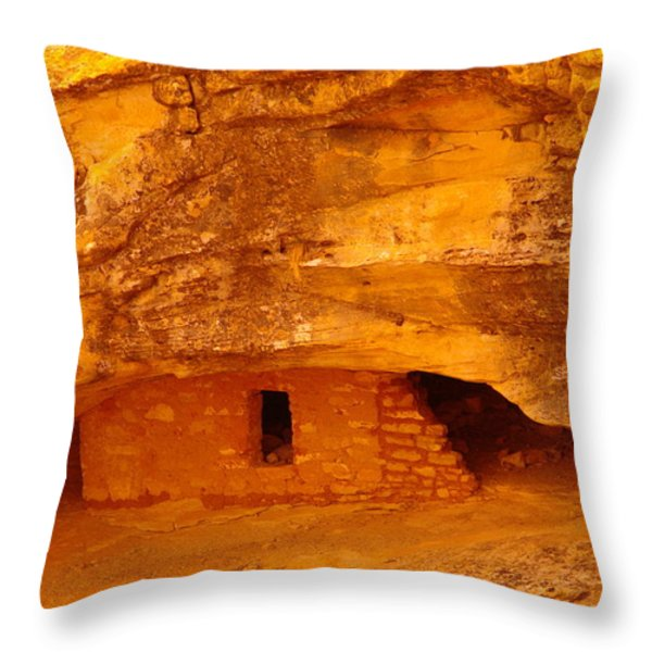 Anasazi Ruins  Throw Pillow by Jeff Swan