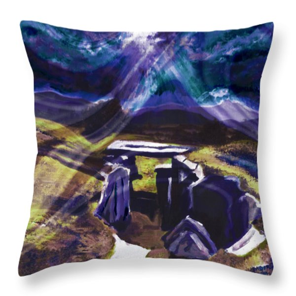 Ancestral Plain Throw Pillow by Shawna  Rowe