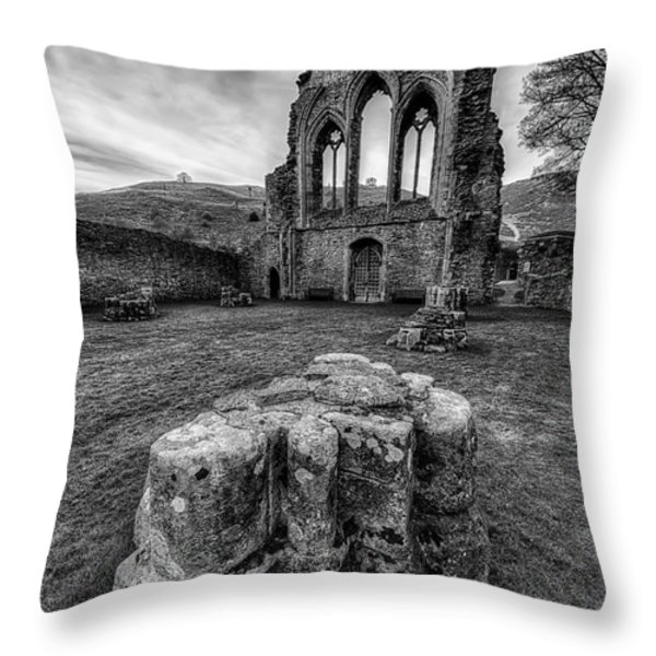 Ancient Abbey Throw Pillow by Adrian Evans
