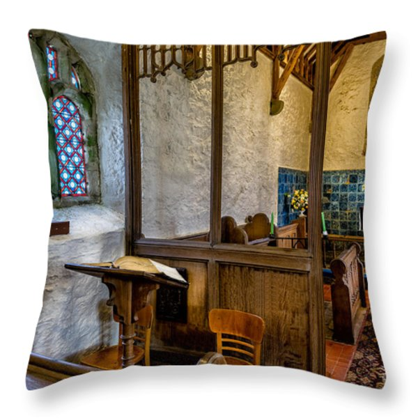 Ancient Chapel 2 Throw Pillow by Adrian Evans