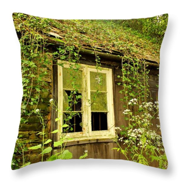 Ancient Cottage Throw Pillow by Rene Triay Photography