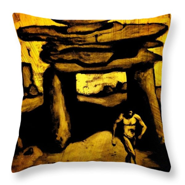 Ancient Grunge Throw Pillow by John Malone