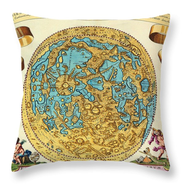 Ancient Map Of The World Throw Pillow by Gianfranco Weiss