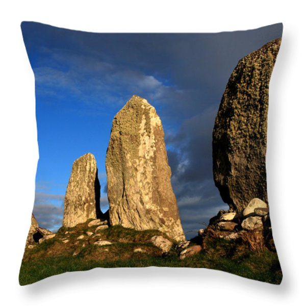 Ancient Stone Alignment Throw Pillow by Aidan Moran