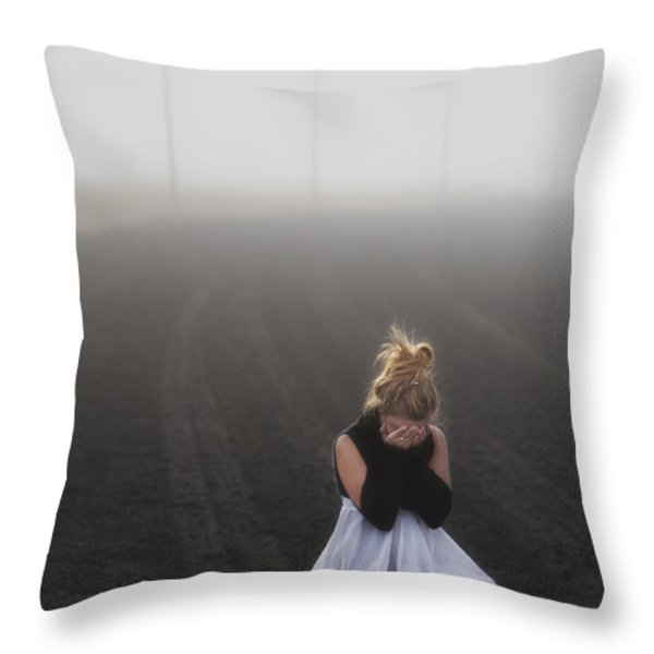 And Tears Shall Drown The Wind Throw Pillow by Evelina Kremsdorf