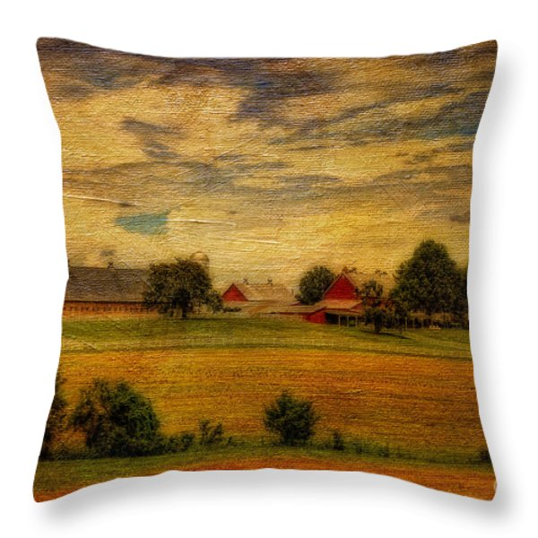 And The Livin' Is Easy Throw Pillow by Lois Bryan