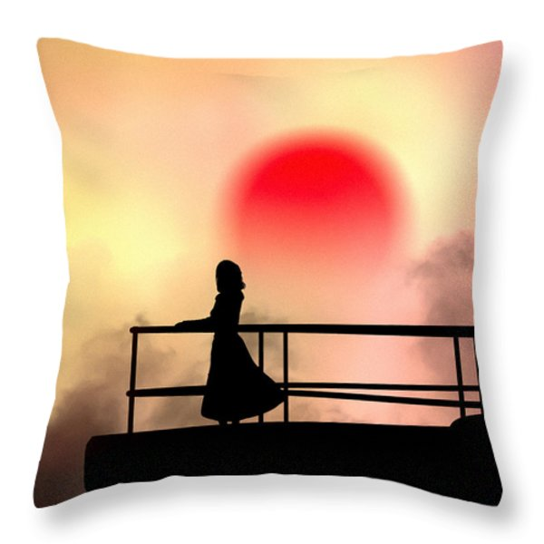 and the sun also rises Throw Pillow by Bob Orsillo