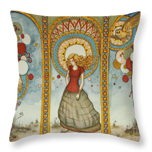 And Then You Fly Throw Pillow by Lucy Stephens